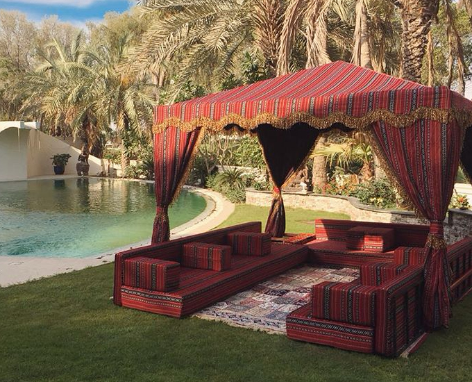 Traditional arabic majlis furniture on rent in Dubai